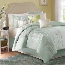 madison park athena queen size bed comforter set bed in a bag seafoam green fl jacquard 7 pieces bedding sets ultra soft microfiber bedroom