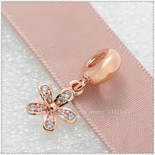 ireland radiant elegance ring pandora rose 484c1 6dcdc closeout 2018 925 sterling silver rose gold plated dazzling daisy pendant charm bead with clear cz