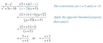 opposite binomial factors