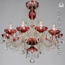 red galaxy swarovski crystal chandelier from davoluce lighting