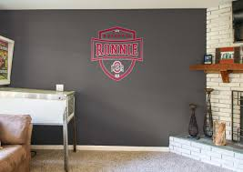 ohio state buckeyes personalized name fathead wall decal