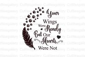 Free transparent feather vectors and icons in svg format. Your Wings Were Ready But Our Hearts Svg Graphic By Cutfilesgallery Creative Fabrica