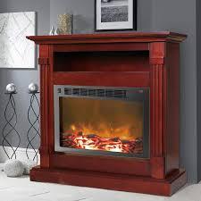 cambridge 33 9 in w mahogany fan forced electric fireplace