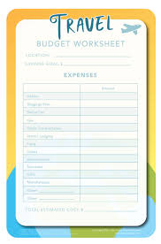 travel budget worksheet travel budget worksheet sun group wealth partners