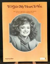If I Give My Heart To You Sheet Music Margo Smith Piano Voice Guitar  Country F1P   eBay