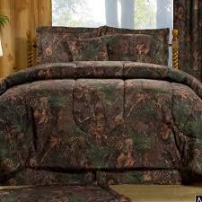 mixed pine camo comforter set