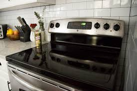 the easiest way to clean a glass top stove