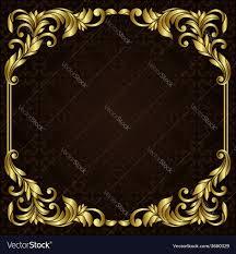 Ornate gold border Royalty Free Vector Image VectorStock