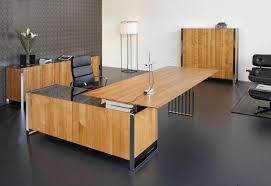 executive desk solid wood metal leather ixo