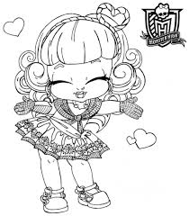 Small Picture Coloring Pages Monster High Coloring Page For Twyla In