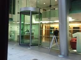 toughened safety glass is a key component in building facades and as such is also incorporated into the design of many revolving glass doors