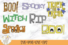 Over 1 million unique premium designs. Halloween Word Art Bundle 7 Svg Cut Files By The Pixel Llama Thehungryjpeg Com