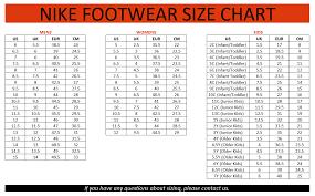 Detailed Nike Air Max 2019 Size Chart Nike Air Max 10