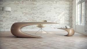 Futuristic office desk White Fiberglass Luxury Desk Design Skinsurance Contemporary Productivity Nebessa Table By Nuvist Furniture Fashion
