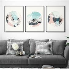 set of 3 prints abstract art prints minimalist prints large wall art prints