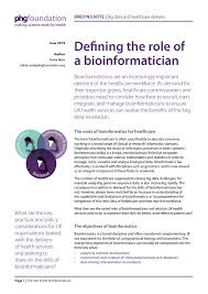 phg foundation defining the role of a bioinformatician