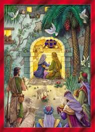 Christmas Cards Images Amazon Com Peaceful Nativity Christmas Cards Set Of 15