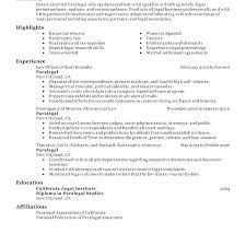 Immigration Paralegal Resume Sample Best of Paralegal Resume Example Sample Immigration Free Template Legal