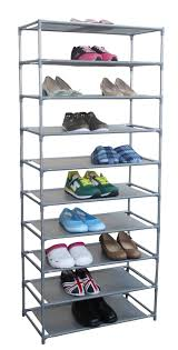 Home Basics 10 Tier Coated Non Woven Shoe Rack Amazon Home Basics FreeStanding Shoe Rack 100Tier 100100 x 1