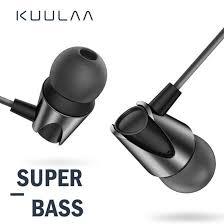 <b>KUULAA Earphones with</b> Microphone Wired <b>Earbuds In</b> Ear Deep ...