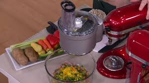 Lovely KitchenAid Premium Food Processor Stand Mixer Attachment On QVC
