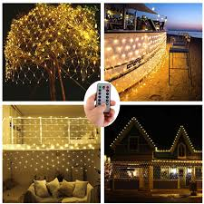 Battery Operated Net Lights With Timer Battery Operated 200 Led Net Lights W Remote Timer 9 8 Ft X 6 6 Ft Outdoor Led Net Mesh String Lights For Wedding Backdrops Christmas Holiday