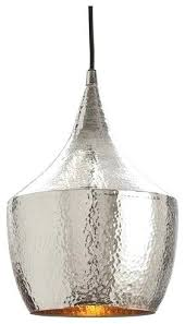hammered metal pendant light silver by home contemporary mini e3