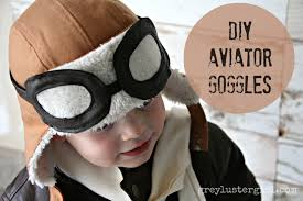 kids aviator costume with diy pilot goggles