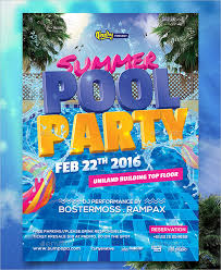 Party Template 30 Printable Pool Party Invitations Psd Ai Eps Free Premium