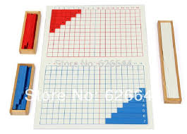 Wooden Math Games Professional Montessori learning education math game sticks 19