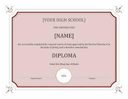 blank high school diploma template