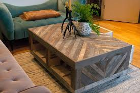 Pallet And Barn Wood Coffee Table With Storage