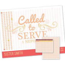 Scroll Sister Missionary Countdown Calendar