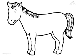 1) if you have javascript enabled you can click the print link in the top half of the page and it will automatically print the coloring page only and ignore the advertising and navigation at the top of the page. Horse Coloring Page Coloring Home