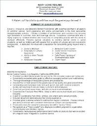 Sample Of Waitress Resume Adorable Waitress Resume Samples Sample Professional Resume