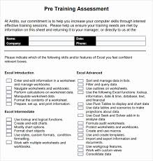 Training Assessment Form Template New Sample Training Evaluation ...