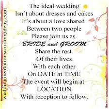 Wedding Invitation Quotes Awesome Wedding Invitation Wording Ideas For Informal Wedding Wording