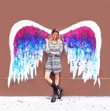 the global angel wings project wall on angel wings wall art los angeles address with fashionlaine s 8 great photo backdrops in la