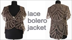 Bolero Jacket Pattern Extraordinary How To Crochet Lace Bolero Jacket Chaleco PART 48 Free Pattern