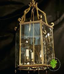 vintage large brass panes beveled glass chandelier 9 lights fredrick ramond