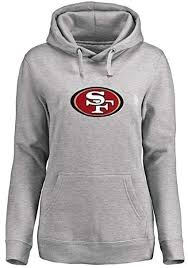 Majestic Hoodie Size Chart Majestic San Francisco 49ers Nfl Big Logo Pullover Hoodie Womens Gray Plus Sizes