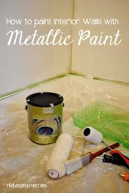 metallic paint for wallsHow to Paint a Metallic Accent Wall ModernMasters  The Benson Street