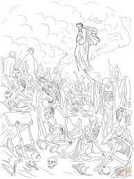 1 Ezekiels Vision Valley Dry Bones Coloring Page For Bones Coloring
