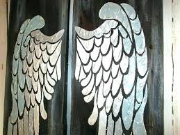 angel wing wall decor wings large white art for nashville