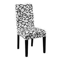 uxcell stretch washable short dining room chair protector cover slipcovers home decor white black