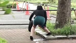 Women pissing on public