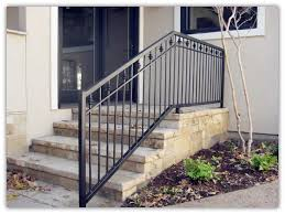 outdoor metal stair railing. Modern Stair Railings Outdoor Metal Image 44 Stairs Throughout For Outside Plan 11 Railing G