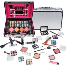 shany all in one makeup kit eyeshadow blushes powder lipstick more holiday exclusive black walmart