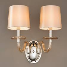 modern sconce lighting. Modern Blown Glass Double Wall Sconce Champagne Lighting L