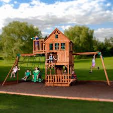 com backyard discovery tucson all cedar wooden swing sets